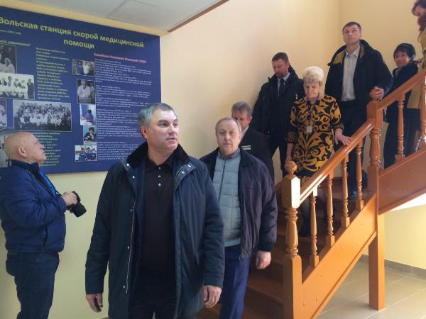 Вячеслав Володин посетил сооружение станции скорой помощи вВольске